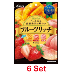 Kanro Fruit Rich Candy 70g [6 ...